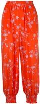 Nicholas Poppy print cropped trousers