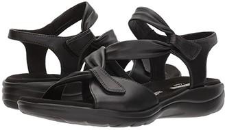 Clarks Saylie Moon (Black Leather) Women's Sandals
