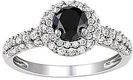 JCPenney 1 1/3 CT. T.W. Black & White Diamond Bridal Ring
