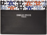 Emilio Pucci Black Logo Card Holder