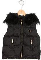 DSQUARED2 Girls' Fur-Trimmed Down Vest w/ Tags