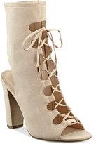 GUESS Women's Laila Lace-Up Block-Heel Sandals