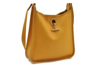 Hermes Vespa Yellow Leather Handbags