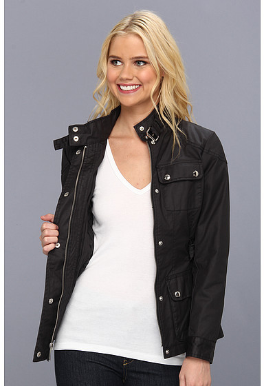 MICHAEL Michael Kors Snap Front Belted Jacket M420891A