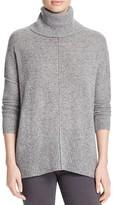 Aqua Cashmere Twist Oversize Turtleneck Cashmere Sweater