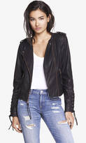 Lace Up (Minus The) Leather Moto Jacket