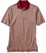 Bobby Jones Breene Jacquard Stripe Short-Sleeve Polo