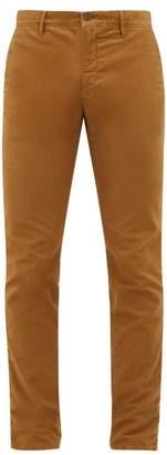 Incotex Slim-fit Cotton-blend Chino Trousers - Mens - Beige