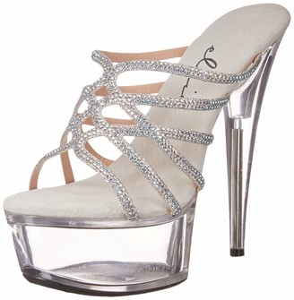 Ellie Shoes Women's Rhinestone Slide Sandal