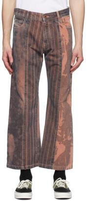 Diesel GR-Uniforma Orange Edition Bleached Jeans