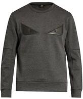 Fendi Bag Bugs Leather-appliqué Jersey Sweatshirt