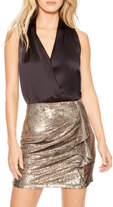 Parker Kenny Sequined Ruffle Skirt