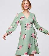 LOFT Petite Bouquet Wrap Dress