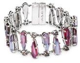 Stephen Dweck Multi Pear Crystal and Sterling Silver Bracelet