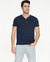 Le Château Cotton Slub Henley Top