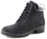 Mia Everly Women Round Toe Synthetic Black Boot.