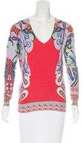 Etro Silk V-Neck Sweater