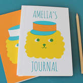Sukie Personalised Notebook 'Cute' Lion In Hat