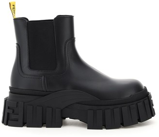 Fendi Chunky Sole Chelsea Boots