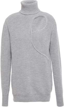 Esteban Cortazar Cutout Merino Wool, Silk And Cashmere-blend Turtleneck Sweater