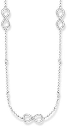 Thomas Sabo Jewellery Ladies Sterling Silver Glam & Soul Necklace KE1406-051-14-L90V
