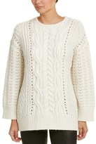 The Kooples Cable-knit Alpaca & Wool-blend Sweater.