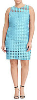 Lauren Ralph Lauren Plus Geometric Lace Sheath Dress