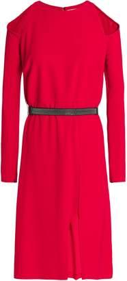 Halston Cold-shoulder Crepe Dress