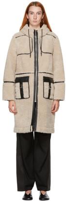 Kim Matin Off-White Sherpa Long Coat