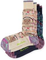 Robert Graham Two-Pair Abstract-Print Sock Set