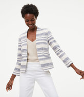 LOFT Striped Tweed Blazer