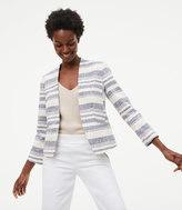 LOFT Striped Tweed Blazer