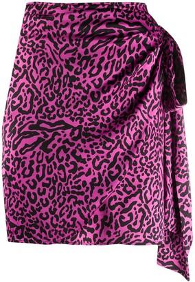 Andamane Camilla asymmetric wrap skirt
