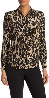 Diane von Furstenberg Mariah Animal Print Silk Blouse