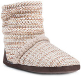 Muk Luks Faux Fur Lined Scrunch Bootie