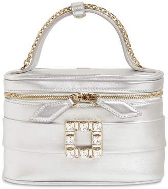 Roger Vivier Micro Vanity Metallic Leather Bag