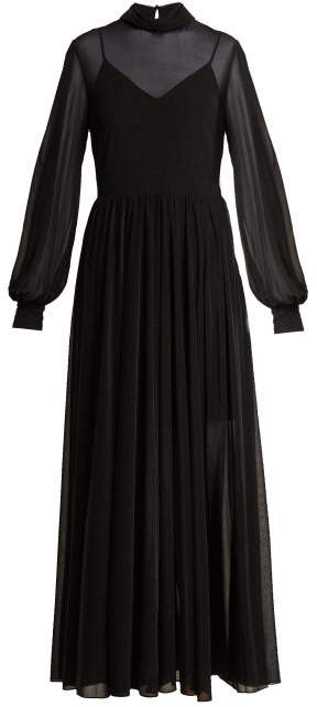 Diane von Furstenberg High Neck Maxi Dress - Womens - Black