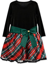 Jayne Copeland Plaid Bow Dress, Toddler & Little Girls (2T-6X)