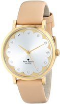 Kate Spade Women's 1YRU0586 Metro Watch with Beige Leather Band