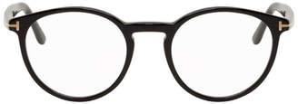 Tom Ford Black Thin Round Glasses