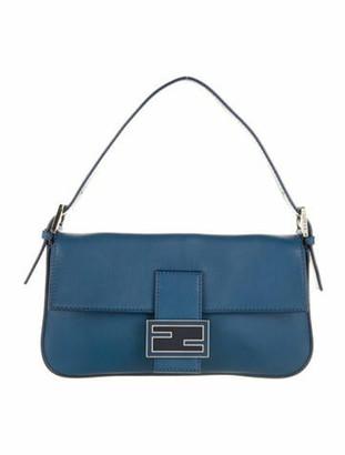 Fendi Leather Baguette Blue