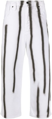 Eckhaus Latta Spray Paint-Printed Jeans