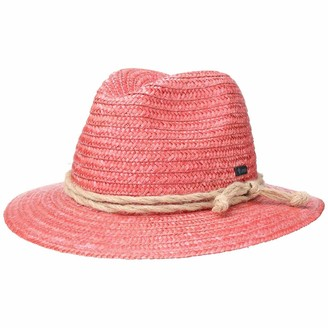 Lipodo Tyrolean Straw Hat Women/Men - Made in Italy Sun Summer Beach Spring-Summer - L (58-59 cm) Rose