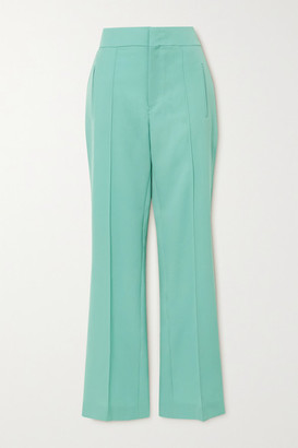 Isabel Marant Lokia Wool-twill Straight-leg Pants - Mint