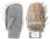 Stella McCartney faux fur panelled mittens - women - Modacrylic/Polyester/Virgin Wool - One Size