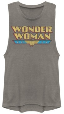 Fifth Sun Dc Wonder Woman Retro Logo Festival Muscle Women's Tank