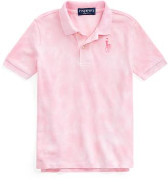 Ralph Lauren Pink Pony Tie-Dye Polo Shirt