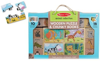 Pottery Barn Kids Melissa & Doug Natural Play Books & Puzzle Animals Set