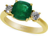 Effy Emerald Envy by Emerald (1-3/4 ct. t.w.) and Diamond (3/8 ct. t.w.) Ring in 14k Gold