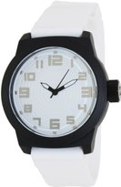 Kenneth Cole Reaction Unisex RK1311 Street Black Case White Record Dial Silicone Strap Watch